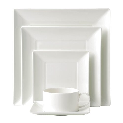 Wedgwood Ashlar 5 Piece Square Place Setting