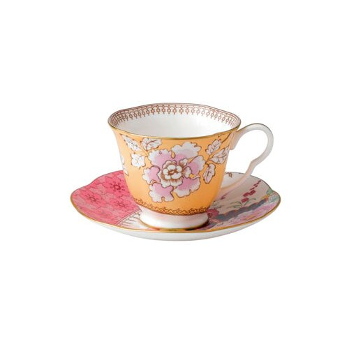 Wedgwood Harlequin Butterfly Bloom Floral Bouquet Cup and Saucer