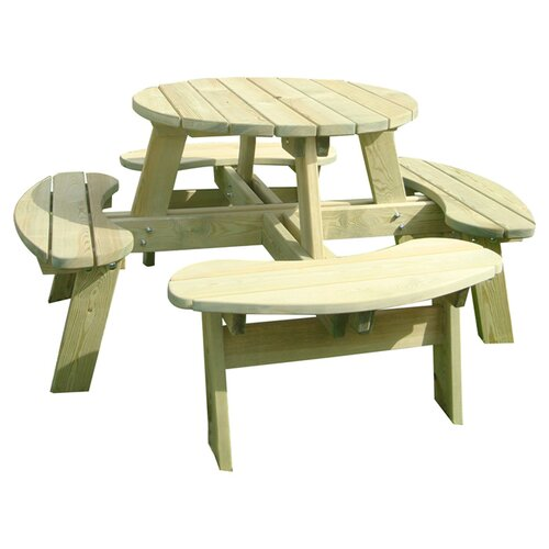 Zest 4 Leisure Katie Round Picnic Table Amp Reviews Wayfair Uk