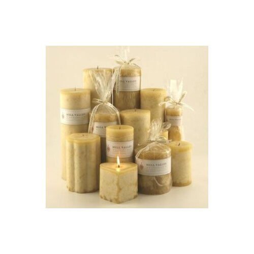 Mill Valley Candleworks Polynesian Vanilla Scented Pillar Candles