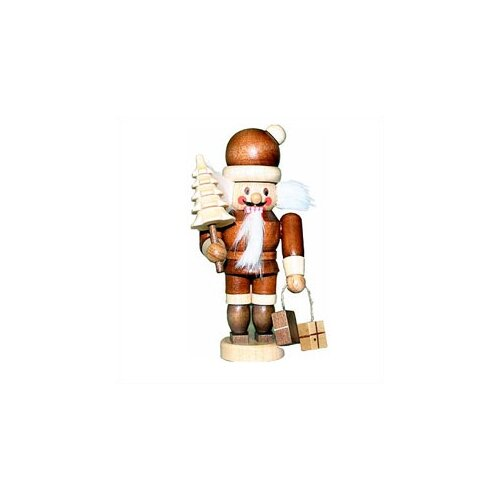 Christian Ulbricht Natural Light Wood Mini Santa Nutcracker