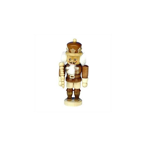 Small Natural Wood Finish King Nutcracker