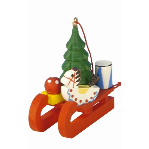 Christian Ulbricht Sled with Toys Ornament