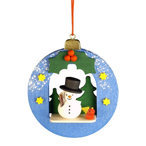 Christian Ulbricht Snowman Ball Ornament