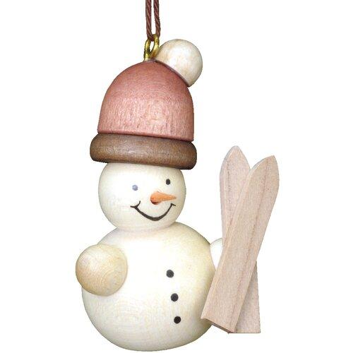 Christian Ulbricht Snowman Skier Ornament