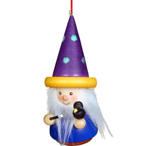 Christian Ulbricht Wizard with Wand Ornament