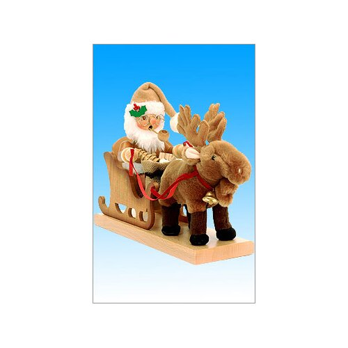 Christian Ulbricht Santa with Reindeer Sleigh Incense Burner