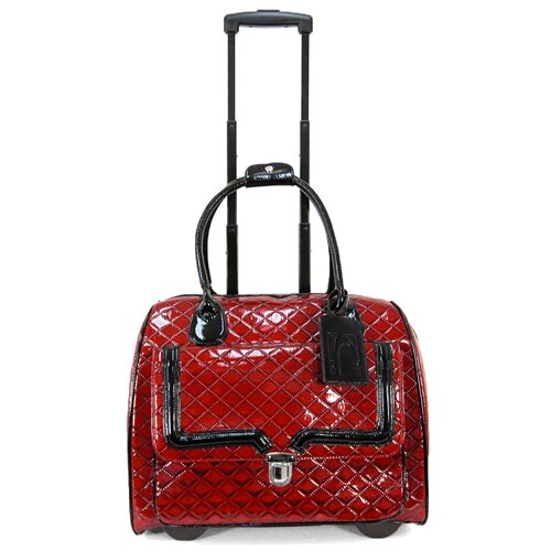 Patent Quilted Laptop Briefcase