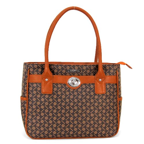 Flower Printed Luggage Compatible Tote Bag