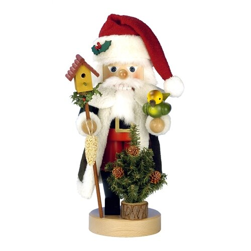 Santa with Bird Nutcracker