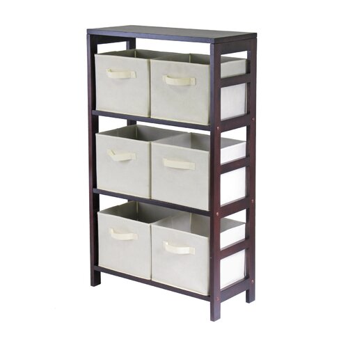 Winsome Capri Storage Shelf with 6 Foldable  Baskets