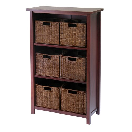 Winsome Milan Vertical Storage Shelf with Baskets