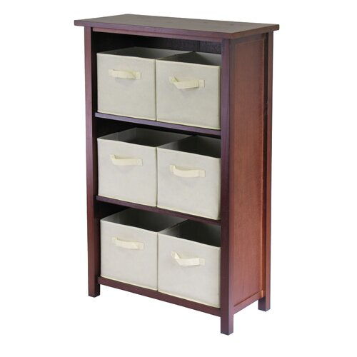 Verona Storage Shelf with 6 Foldable Baskets