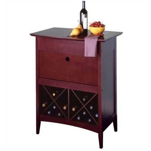 Winsome Espresso Bar Cabinet