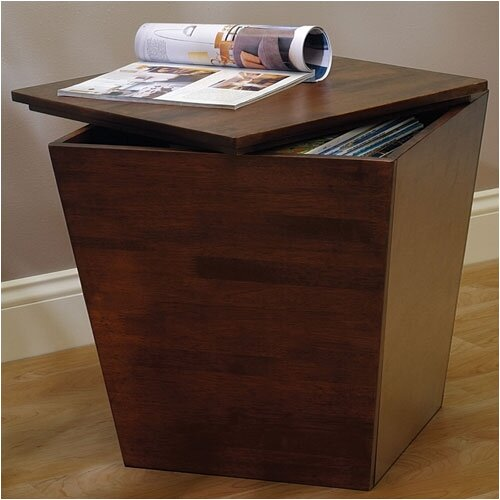 Winsome Regalia Walnut Storage Table