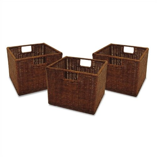 Winsome Espresso Wicker Basket Set
