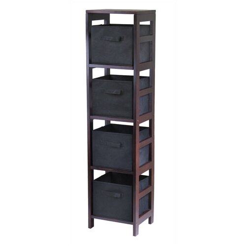 Capri Storage Shelf with 4 Foldable Baskets