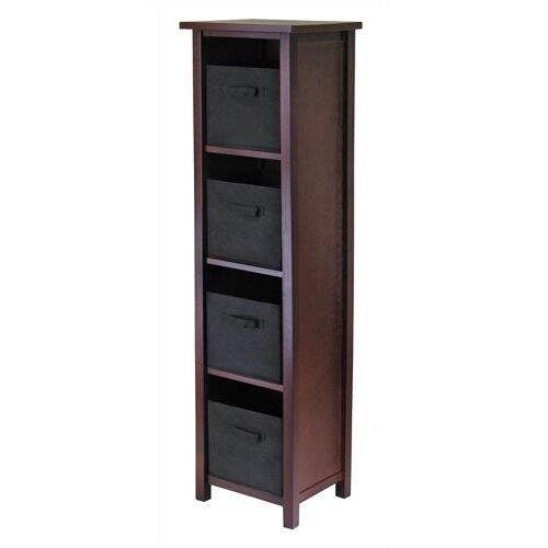 Winsome Verona Storage Shelf with 4 Foldable  Baskets