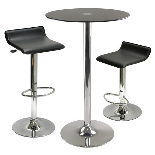 Winsome Rossi 3 Piece Pub Table Set