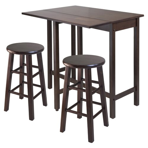 Winsome Lynnwood 3 Piece Counter Height Pub Table Set