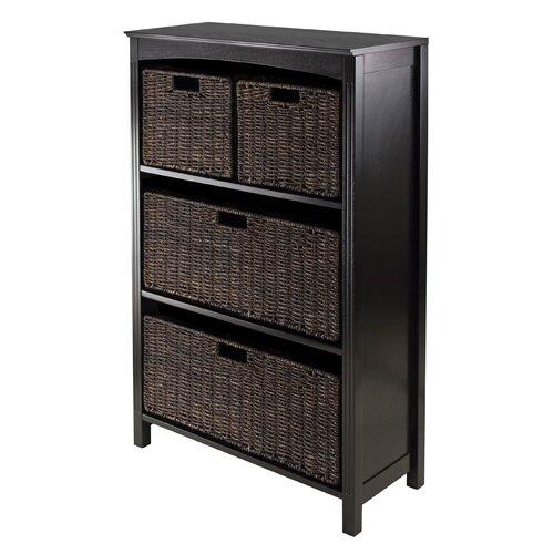 Terrace 4 Tier Storage Shelf with 4 Foldable Baskets