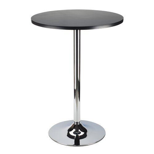 "Winsome Spectrum Pub Table 24"" Round, Black with Chrome"