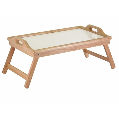 Winsome Breakfast Tray with Handles and Foldable Legs