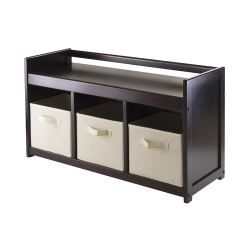 Addison 4 Piece Wood Storage Bench Set