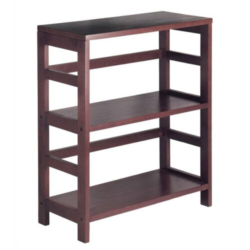 Winsome Espresso Wide 2 Section Storage Shelf and Baskets
