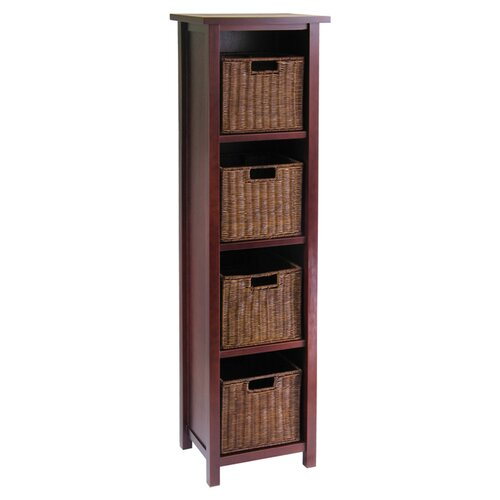 Winsome Milan Tall Storage Shelf With Baskets Amp Reviews