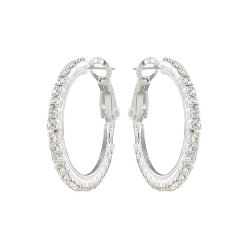 Roman Crystal Hoop Earrings