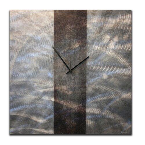 "Metal Art Studio 22"" Stripe Wall Clock"