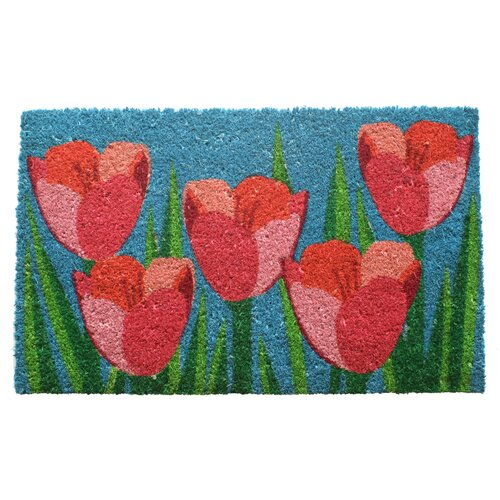 Entryways Sweet Home Field of Tulips Doormat