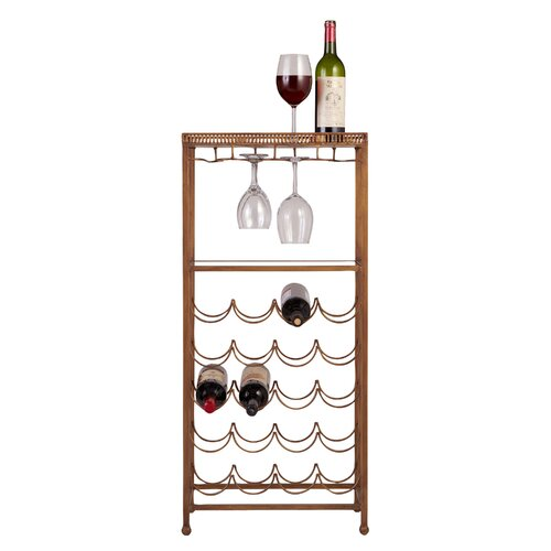 Reverse Painted 20 Bottle Wine Rack