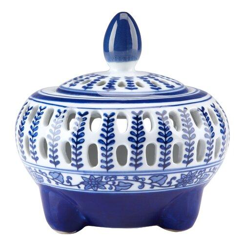 Bombay Heritage Blue & White Potpourri Decorative Jar