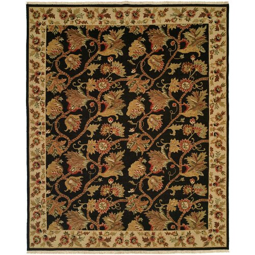 Wildon Home ® Soumak Black / Ivory Rug