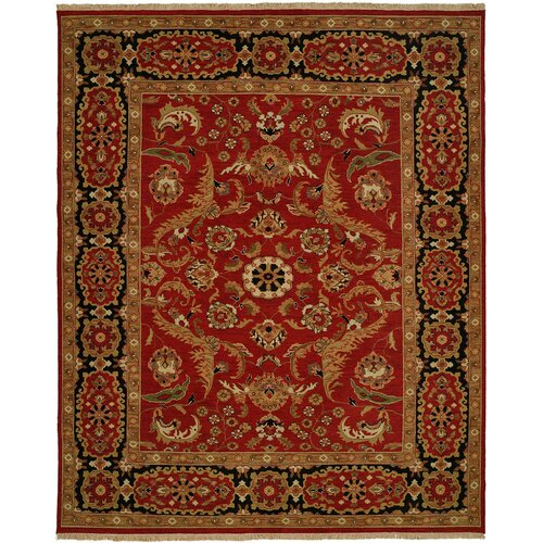 Wildon Home ® Soumak Red / Black Rug