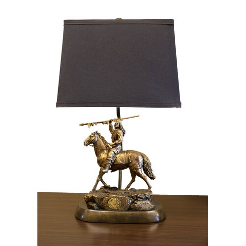 "Tailgate Toss NCAA Tim Wolfe 19"" H Table Lamp with Empire Shade"