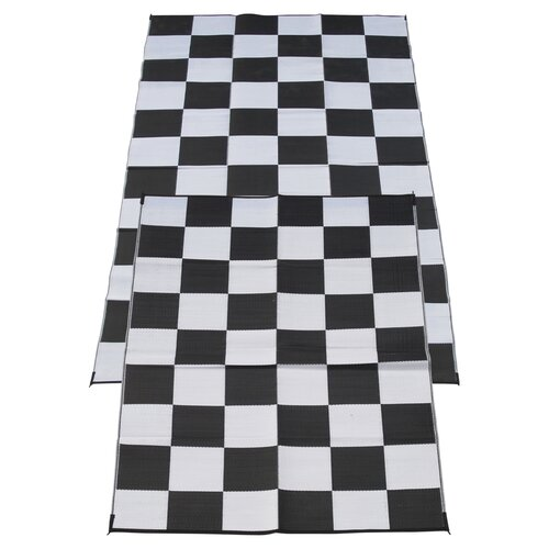 Checkered Flag Rug: Fireside Patio Mats Racing Checks Checkered Flag Mat