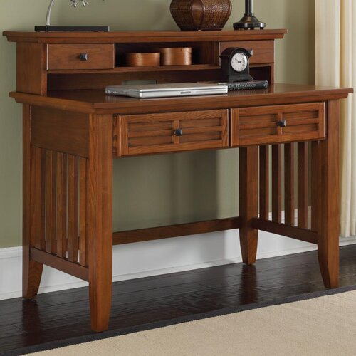 home styles arts and crafts 42 w writing desk and hutch. Black Bedroom Furniture Sets. Home Design Ideas