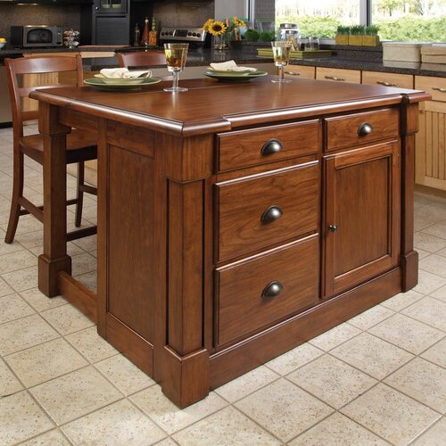 Home Styles Aspen 3 Piece Kitchen Island Set Reviews Wayfair