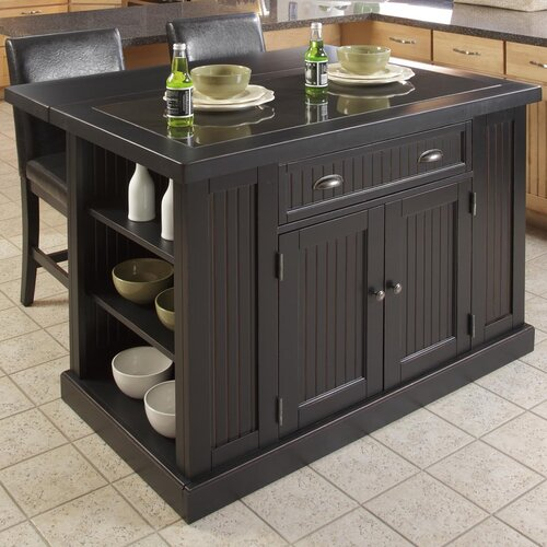 Home Styles Nantucket Kitchen Island with Granite Top