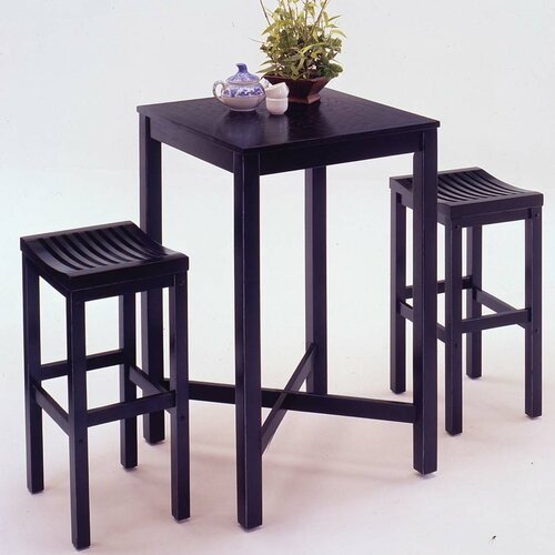 Contour 3 Piece Pub Table Set