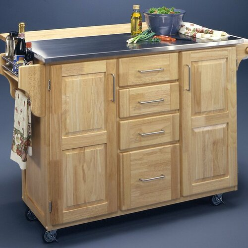 home styles kitchen island with stainless steel top