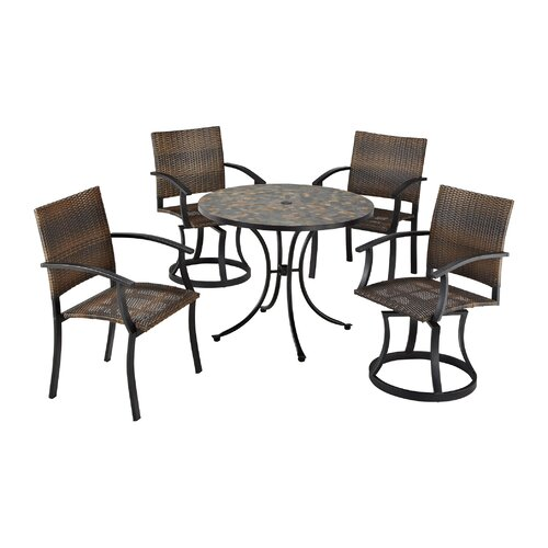 Home Styles Stone Harbor 5 Piece Dining Set with Newport Chairs