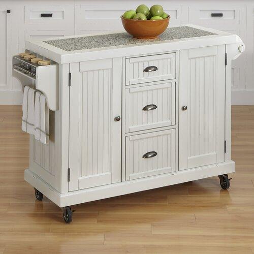 Nantucket Kitchen Cart with Granite Top