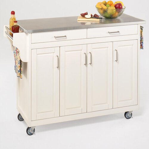 Home Styles Create-a-Cart Kitchen Cart with Stainless Steel Top
