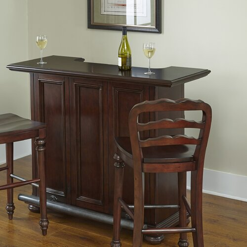 Home styles colonial classic bar with wine storage reviews wayfair - Home bar styles ...