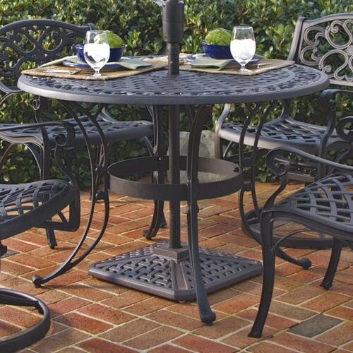 Round Top Patio Table Outdoor Lawn Yard Deck Black Brown Metal Dining 42 Quot