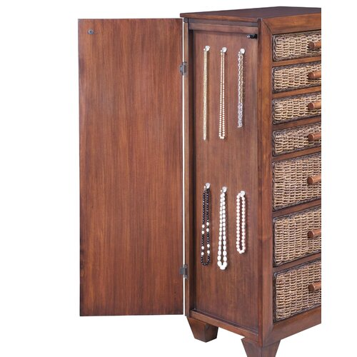 Home Styles Cabana Banana Jewelry Armoire with Mirror